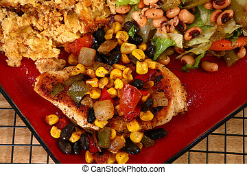 Tex Mex Chicken Dinner - Santa Fe style chicken and yellow...