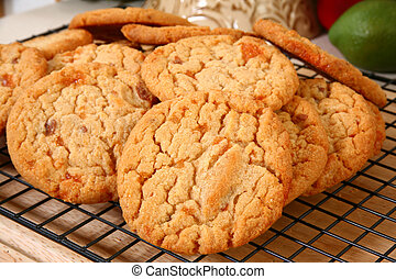 Peanut Brittle Chip Cookies - Yummy cookies with peices of...