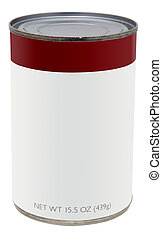 Can with blank label - 155 oz can with blank label for text