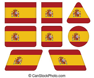 buttons with flag of Spain