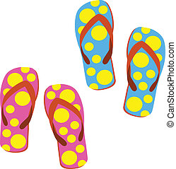 sandals - single sandals  on white background
