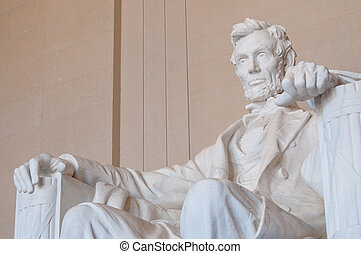 Lincoln Memorial - The Lincoln Memorial in Washington, DC,...