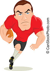 Rugby Player - Caricature illustration of a rugby player