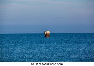 Baltic Sea - pillar in the Baltic Sea