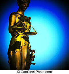 concept of justice - Themis in spotlight - concept of...