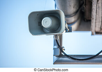 loudspeaker - gray loudspeaker