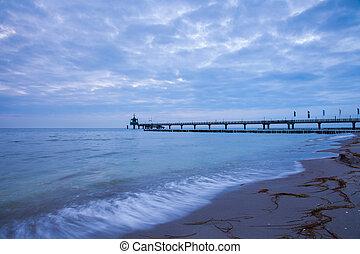 Baltic Sea - pier leading into the Baltic Sea