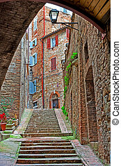 Historic Center - View to Historic Center City of Perugia,...
