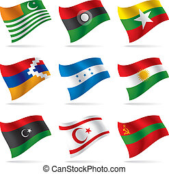 Set of world flags - vector world flags set
