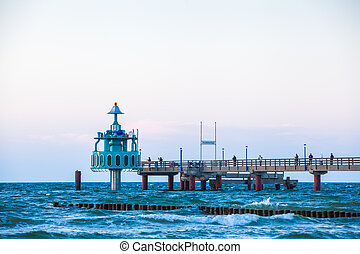 pier at the Baltic Sea