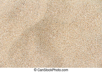 Sandy Beach Textured Background - Top view of sandy beach...