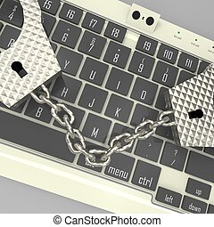 Cyber crime - abstract and conceptual composition