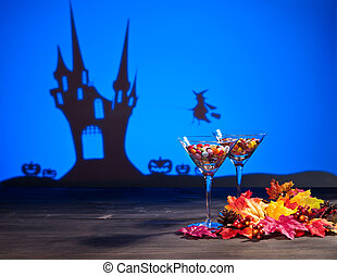 Halloween haunted house a witch and sweets - Halloween...