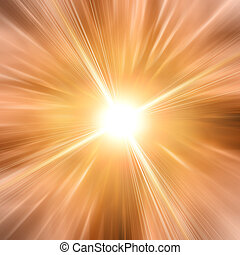 Abstract sun with summer rays background
