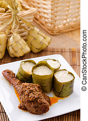 Lemak Lemang, traditional Malaysian food made of glutinous...