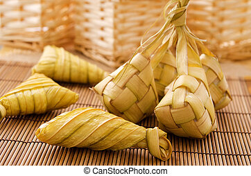 Ketupat or rice dumpling - Ketupat or packed rice dumpling...