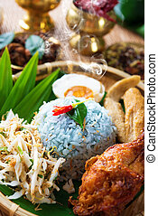 Traditional Malaysian food nasi kerabu - Traditional...
