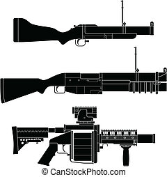 Grenade Launcher - Layered vector illustration of collected...