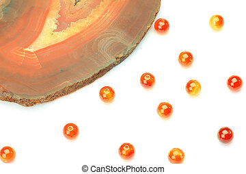 carnelian  - This is called carnelian with a natural stone.