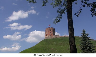 historical Gediminas castle tower in Vilnius, Lithuania