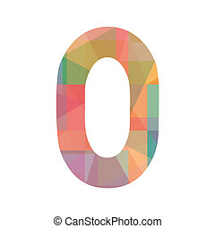 A colorful number zero - Number zero for design and...