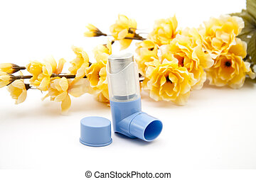 Asthma spray   - Asthma spray with flowering branch