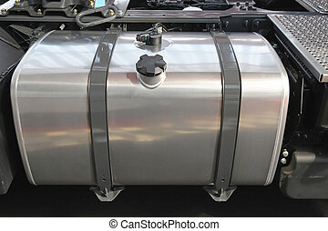 Truck fuel tank - Stainless steel fuel tank at big truck