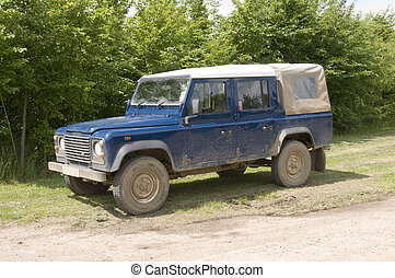 Four wheel drive - A four wheel drive truck on a farm track