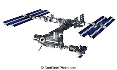 Space station satellite isolated - Satellite Spacestation...
