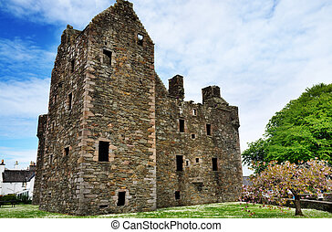 MacLellans Castle, Kirkcudbright, Scotland - A view of the...