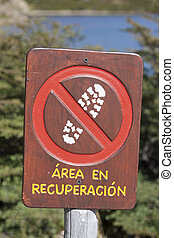 Protected area sign
