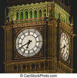 Westminster Clock - Close-up of the clock of Westminster...