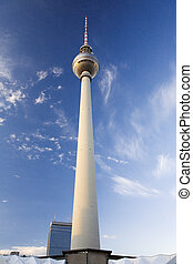 Berlin Television Tower - Perspective view up the Berlin...