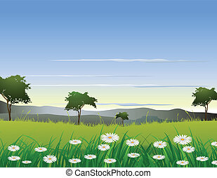 beauty nature background - vector illustration of beauty...