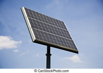 Solar Panel - Electricity-generating solar panel against...