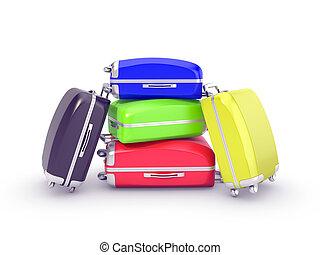 luggage isolated on white background