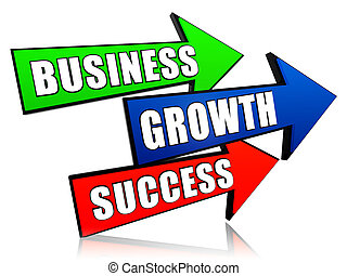 business, growth and success in arrows - business, growth...