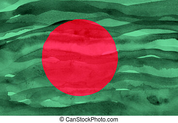 Painted flag of Bangladesh