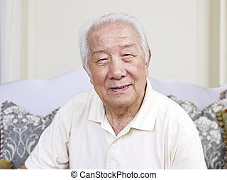 senior man - portrait of an asian senior man.