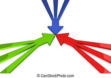 3D Arrows - Green / Red / Blue - 3D Arrows - 3 in 1 - Green...