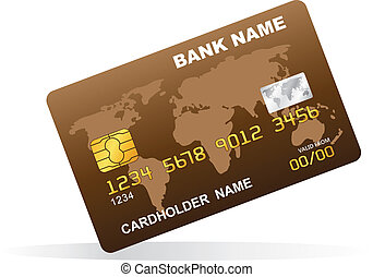 Vector illustration of a plastic credit card.