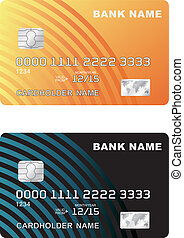 Vector illustration of a plastic credit card Isolated on...