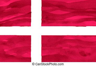 Painted flag of Denmark