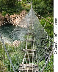 Swingbridge - The Buller Gorge swingbridge in New Zealand