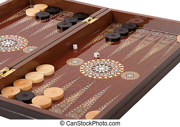 Backgammon Set During Game