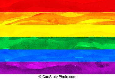 Painted flag of Gay (Pride)
