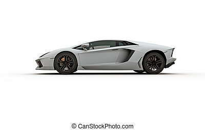 concept car isolated on white background