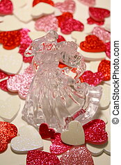 Dancing hearts - Assorted hearts spread around A beautiful...