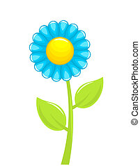 Blue flower Vector illustration