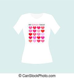 Girl t-shirt design